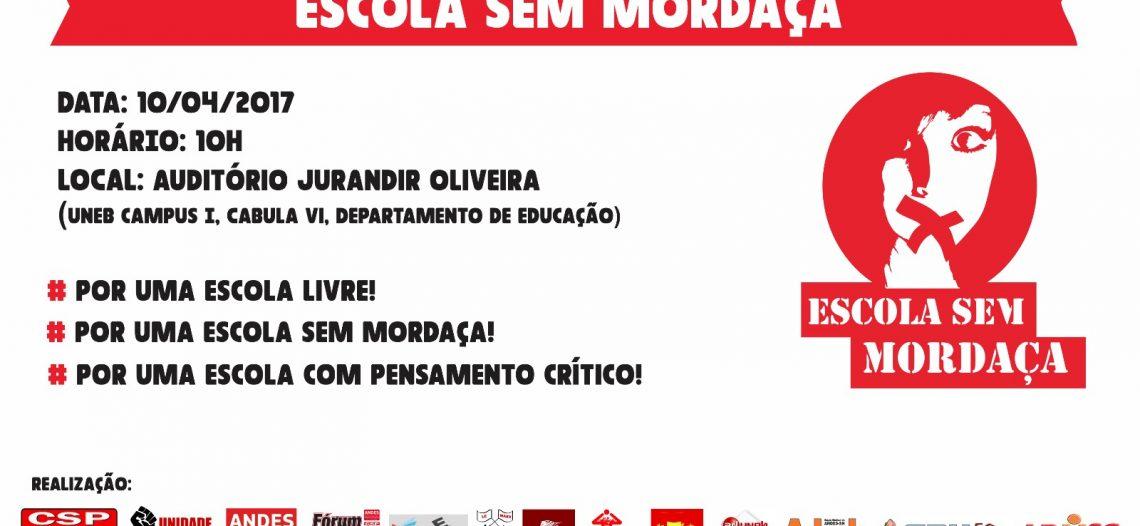 ABECS apoia a Frente Nacional Escola Sem Mordaça e a construção da Frente Baiana Escola Sem Mordaça