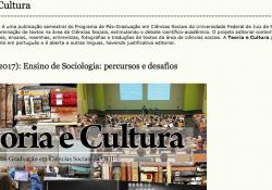 """A revista Teoria e Cultura lança o dossiê """"Ensino de Sociologia: percursos e desafios"""""""