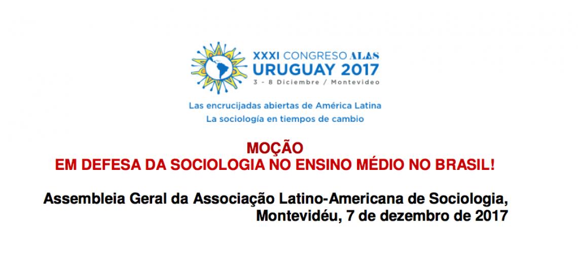 ALAS emite moção em defesa da Sociologia no Ensino Médio no Brasil