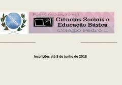 Especialização gratuita em Ciências Sociais e Educação Básica no Colégio Pedro II