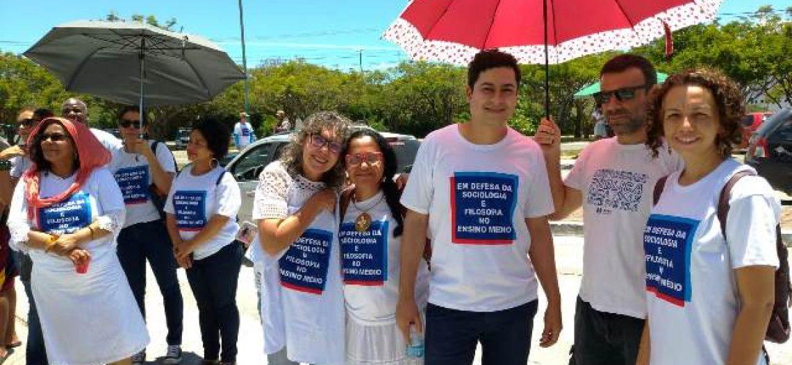 Protesto da ABECS na Secretária de Educação (SEC) do Estado da Bahia em defesa da Sociologia e da Filosofia no Ensino Médio