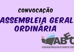 Edital de convocação para a Assembleia Geral Ordinária da Associação Brasileira de Ensino de Ciências Sociais – ABECS