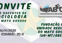 Convite: Reunião de fundação da Unidade Regional do Mato Grosso (UR-MT/ABECS)